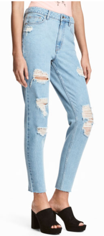 H&M COACHELLA MOM JEANS TRASHED £29.99